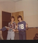 Mark Harrell and David (?) at Sherwood Jr. High in 9th Grade